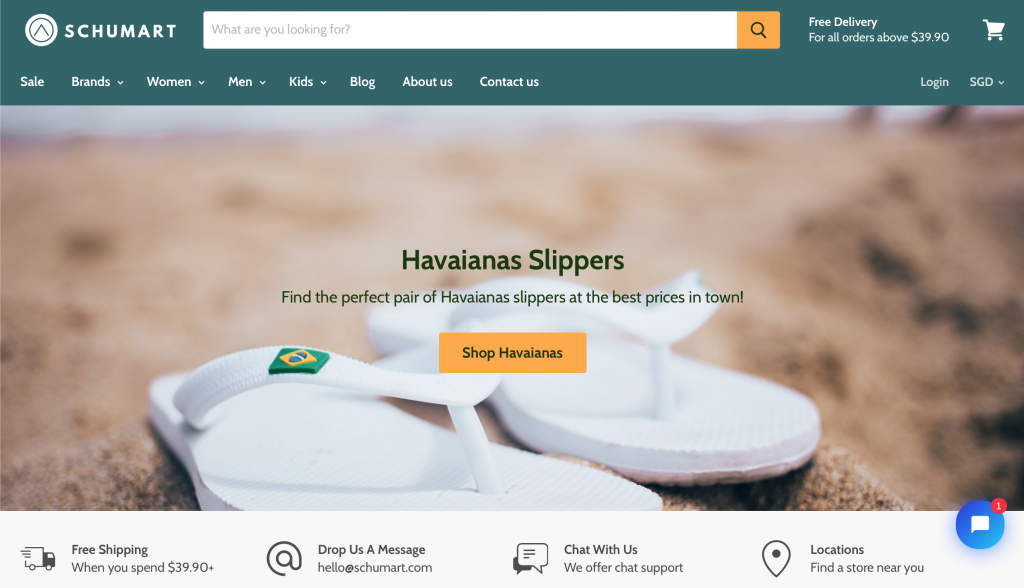 Where to buy Havaianas - Schumart homepage