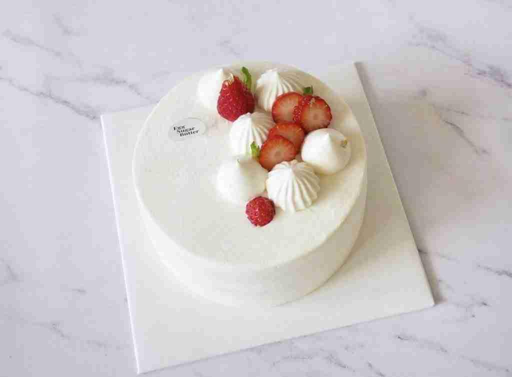 strawberry shortcake from egg sugar butter