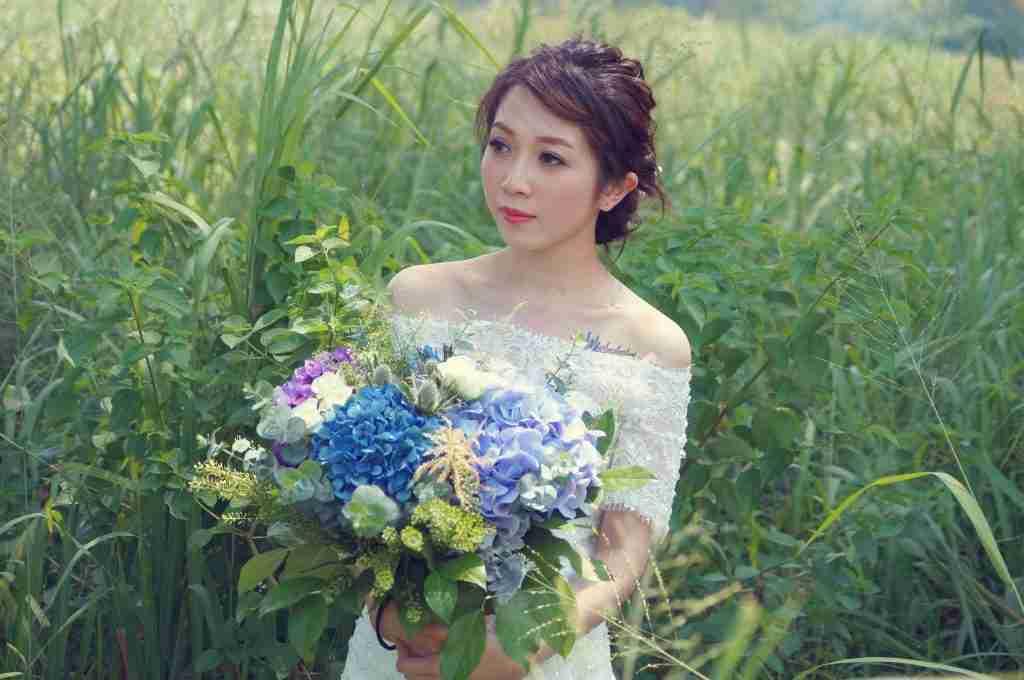 Bridal makeup done by mibe leung makeup