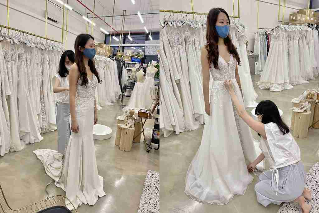 Gown fitting appointment with Estella